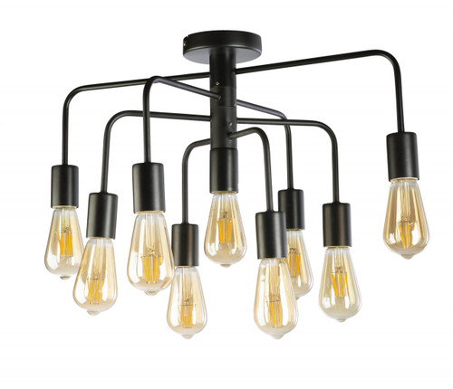 Alexis 9 Light Industrial Close To Ceiling Light