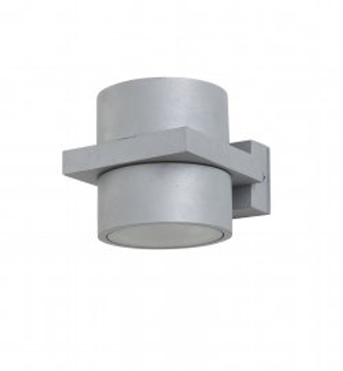 Tomah 1 Light Up/Down Silver with Glass Diffuser Wall Light