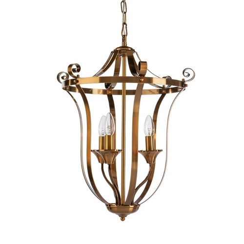 Conway 3 Light Bronze French Provincial Pendant Light