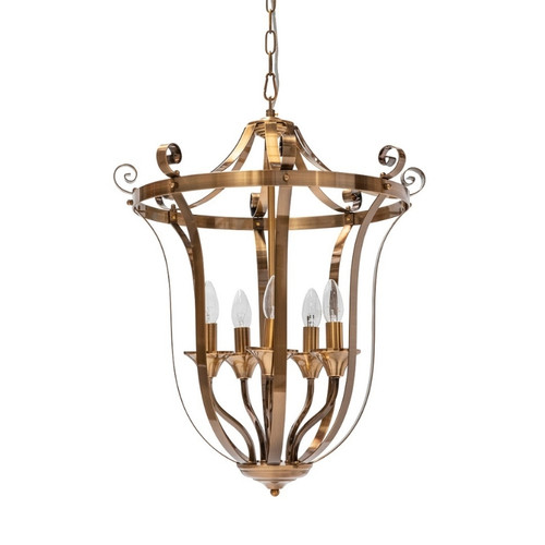 Conway 5 Light Bronze French Provincial Pendant Light