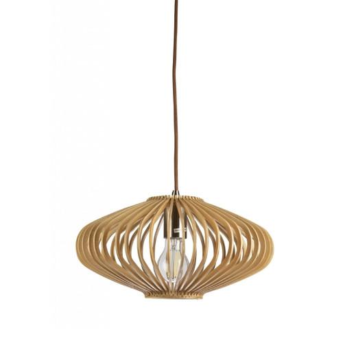 Hartland Saucer Natural Wood Pendant Light - Small