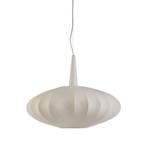 Attica Saucer White Mesh Pendant Light