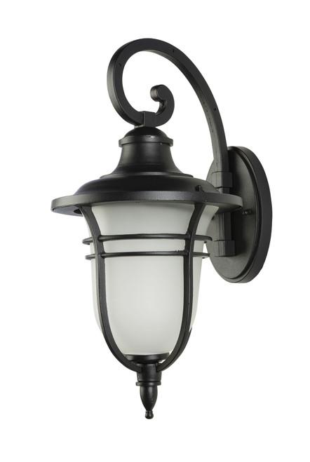 Bilzen Black Frosted Glass Coach Light - Medium