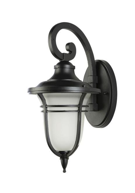 Bilzen Black Frosted Glass Coach Light - Small