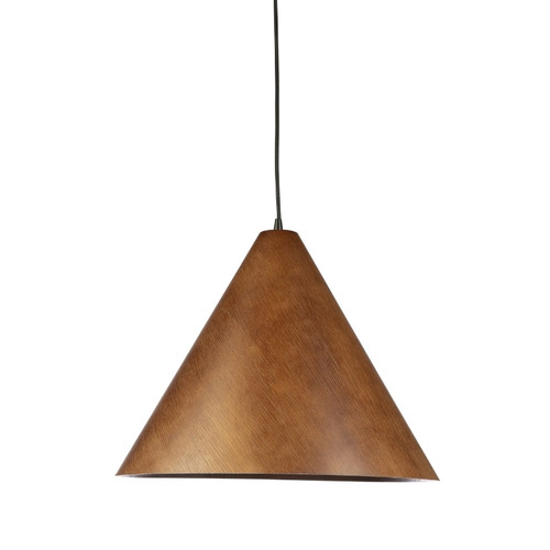 Timber Veneer Cone Walnut Pendant Light - Large