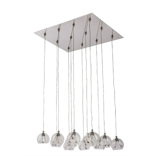 Olympia 12 Light Light Square Plate Cluster Pendant Chandelier