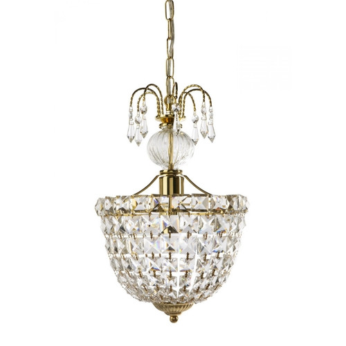 Camila Art Deco Gold Crystal Pendant Light Chandelier