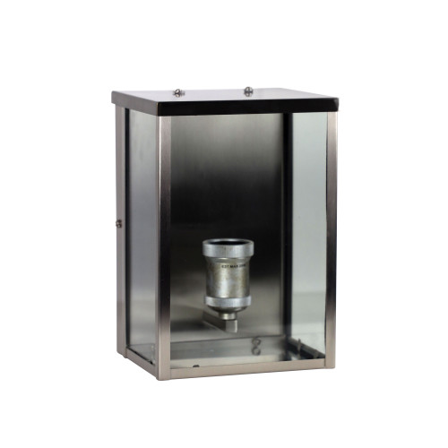 Berkley Brushed Chrome with Clear Glass Outdoor Wall Light