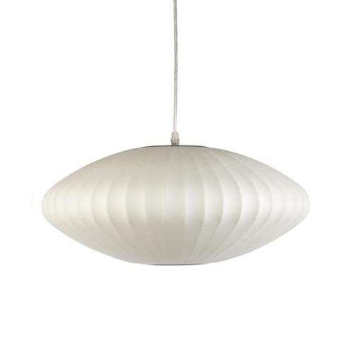 Disk 1 Light White Lantern Pendant Light