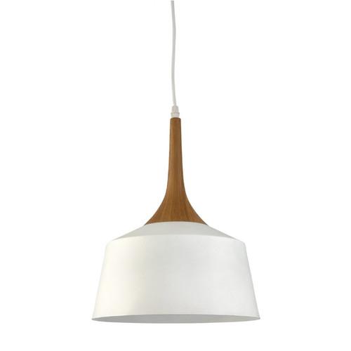 Fiza Dome White Wooden Top Pendant Light