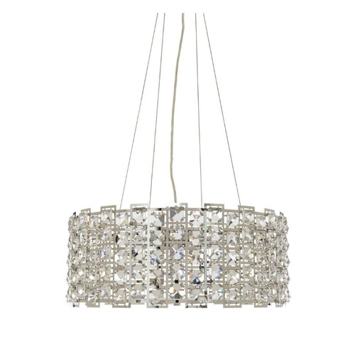 Lowell 3 Light Drum Crystal Pendant Chandelier - Small