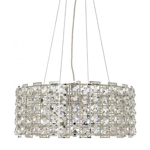 Lowell 6 Light Drum Crystal Pendant Chandelier