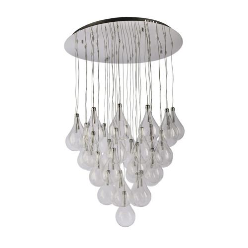 Bubble Glass 36 Light Cluster Pendant Chandelier