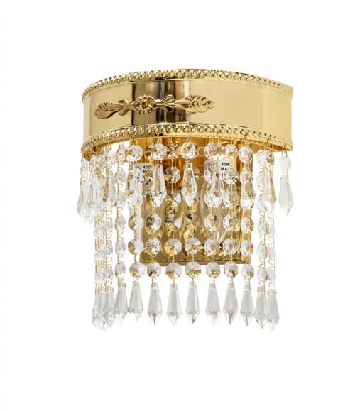 Empiro 2 Light Gold Crystal Wall Light
