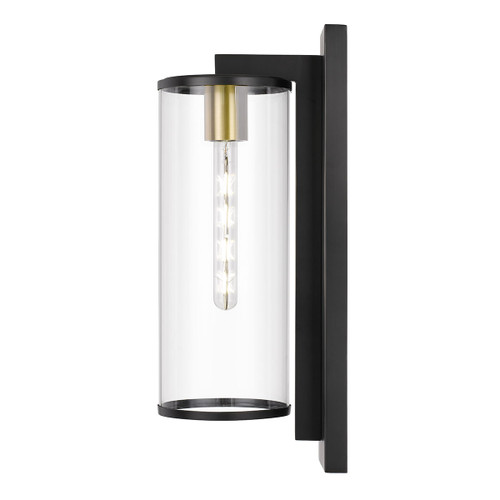 Winfield Black Clear Outdoor Coach Wall Light - Large