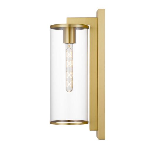 Winfield Brass Clear Outdoor Coach Wall Light