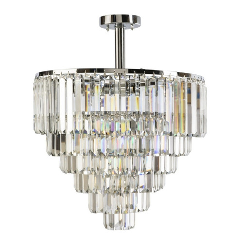 Kathryn Chrome Crystal Close To Ceiling Light