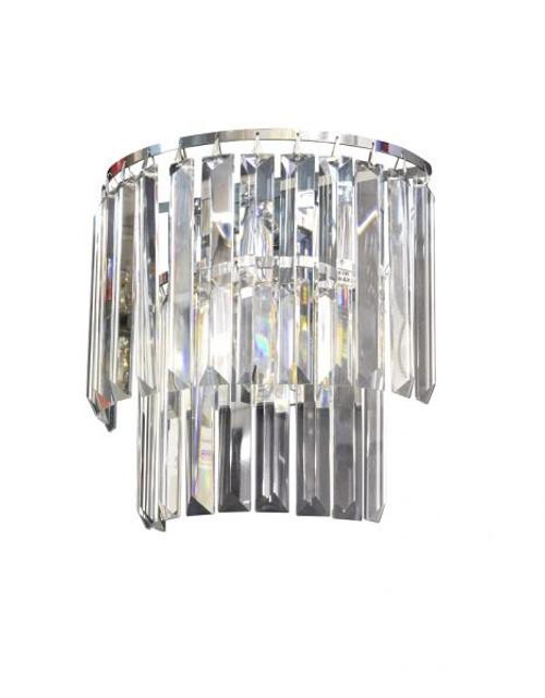 Kathryn 2 Light Chrome Crystal Wall Light