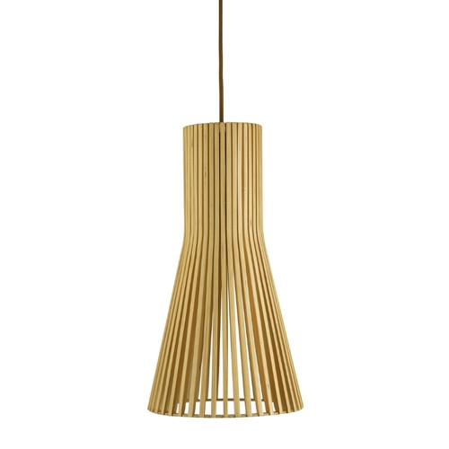 Layton Cone Natural Wooden Pendant Light