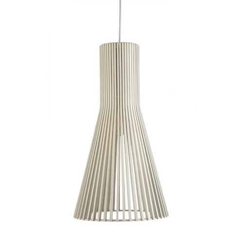 Layton Cone White Wooden Pendant Light
