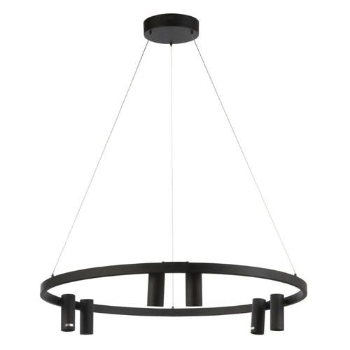 Manchester 6 Light Black Ring Pendant Light