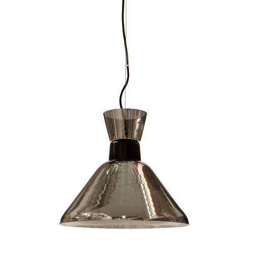 Mira Cone Black Smoke Glass Pendant Light