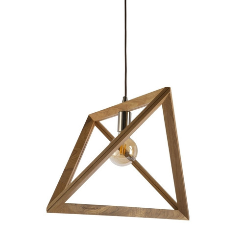 Maryon Triangle Wooden Pendant Light - Large