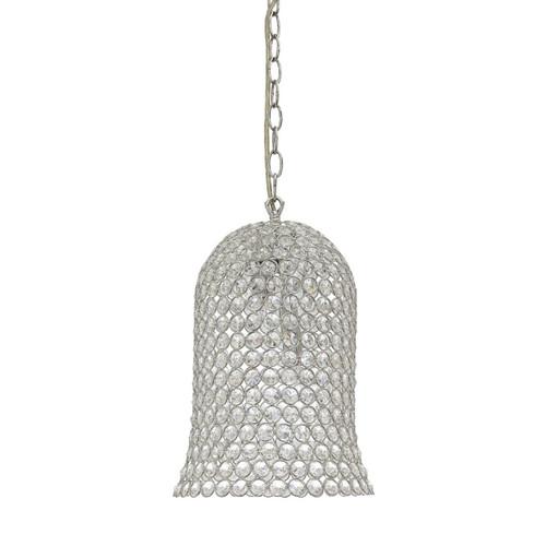 Merida Bell Chrome Crystal Pendant Light
