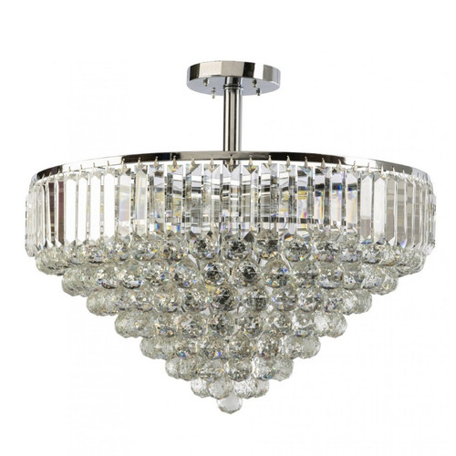 Rosalie Bubble Crystal Close To Ceiling Light