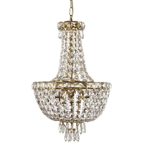 Olivera 5 Light Gold Crystal Chandelier