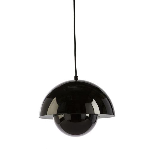 Penelope Black Flowerpot Pendant Light