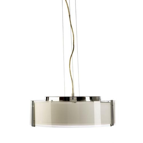 Prairie Disc Chrome Opal Pendant Light