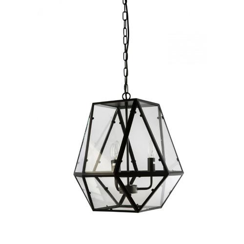 Gabbia 3 Light Black Glass Pendant Light