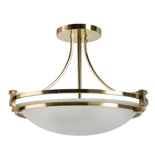 Rene 3 Light Bronze Alabaster Art Deco Close To Ceiling Light