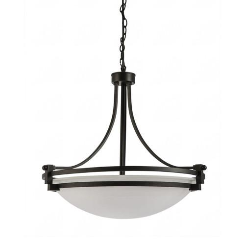 Rene 3 Light Black Alabaster Art Deco Pendant Light