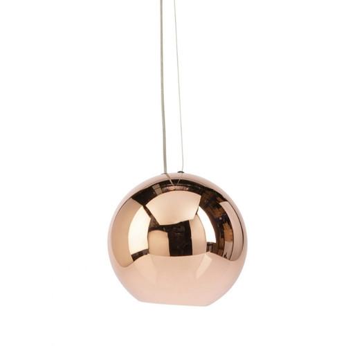 Peri Round Ball Copper Pendant Light
