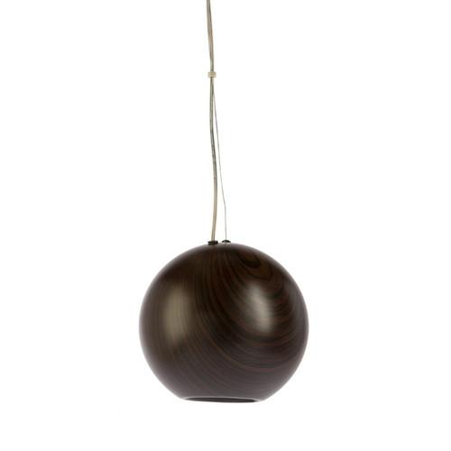 Peri Round Ball Woodgrain Pendant Light