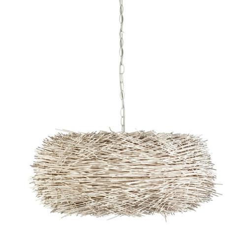 Pietro Beige Cane Nest Pendant Light