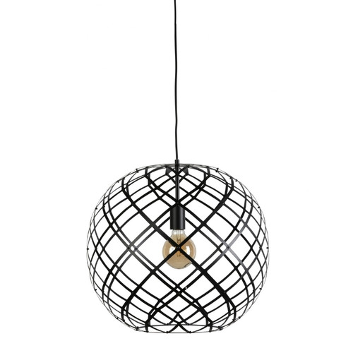 Samara Round Black Web Pendant Light