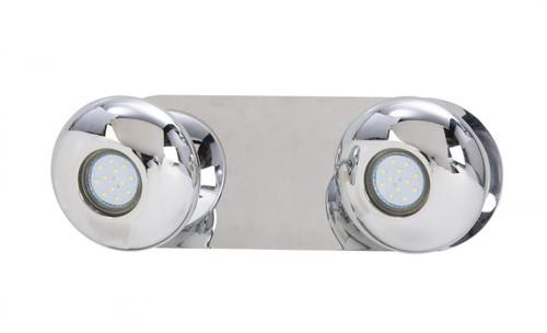 Gretna 2 Light Oval Chrome LED Wall Light