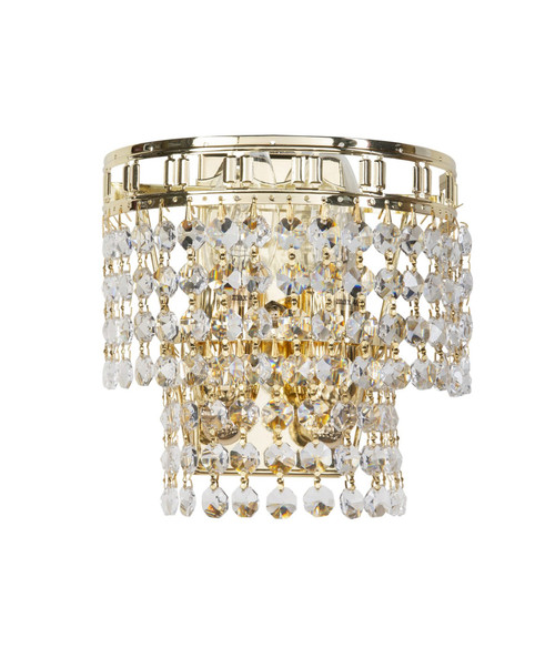 Imperio Gold Crystal Wall Light