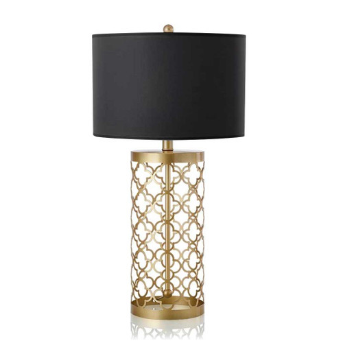 Isabella Golden Base with Dark Shade Table Lamp