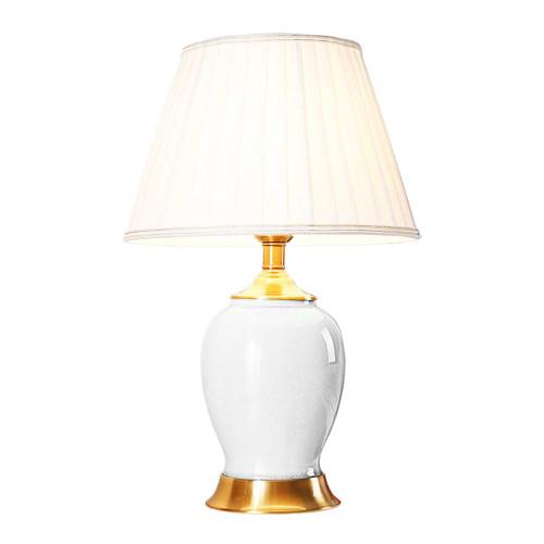 Quinn Oval White Ceramic Table Lamp