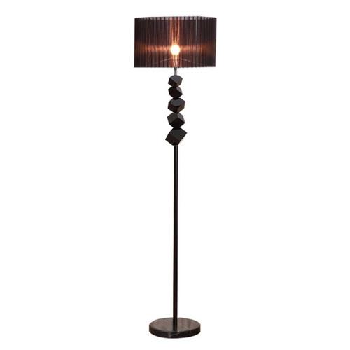 Olivia Black Dark Shade Floor Lamp