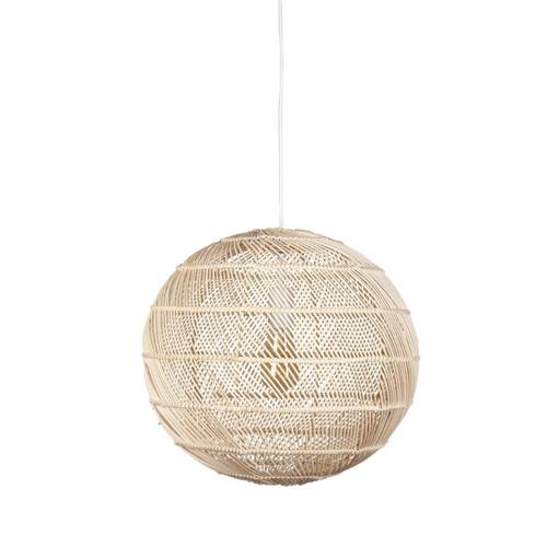 Hamden Round Ball Natural Bamboo Pendant Light