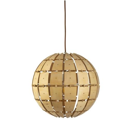 Torrington Wood Ball Pendant Light