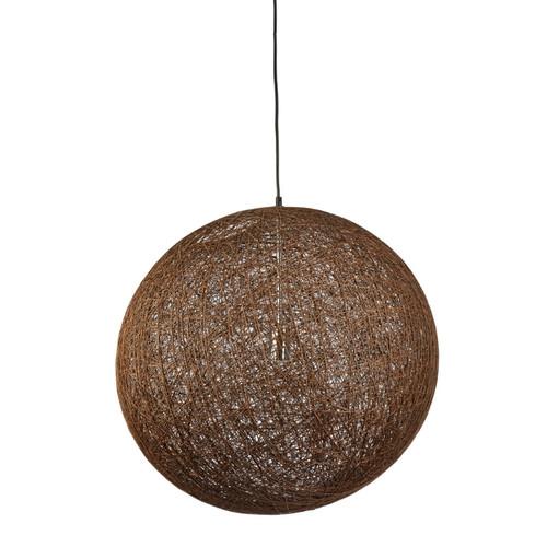 Hoboken Round Ball Dark Brown Mesh Pendant Light