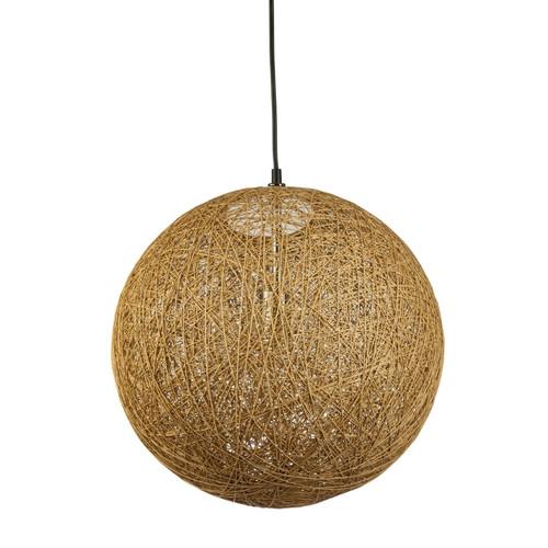 Hoboken Round Ball Beige Mesh Pendant Light