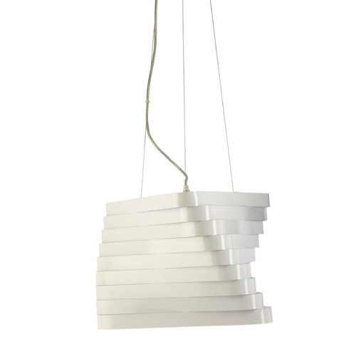 Zita Gloss White Metal Pendant Light