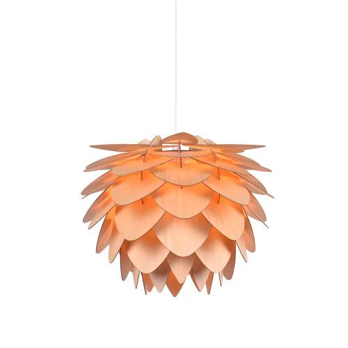 Zaira Wooden Leaves Orange Pendant Light
